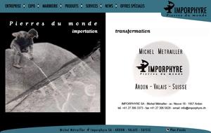 WEB : Imporphyre - Marbrerie de Suisse romande près de Sion